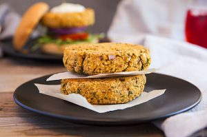 Gluten-free falafel veggie burger patties