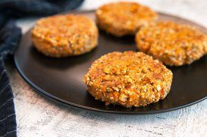 Gluten-free Hemp and Sweet Potato Burgers