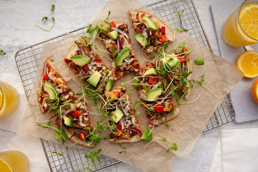 Gluten-free Pizza Party at Home? Try our Pineapple and BBQ Pulled Jackfruit recipe!