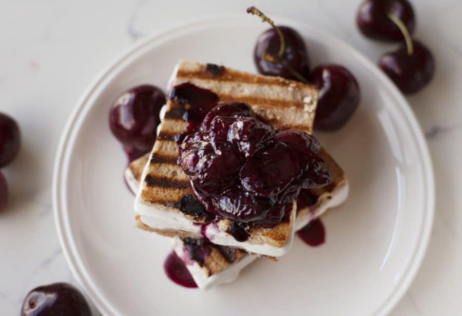 Cherries Jubilee Gluten-free Ice Cream Sandwich Recipe (vegan and allergy-friendly)