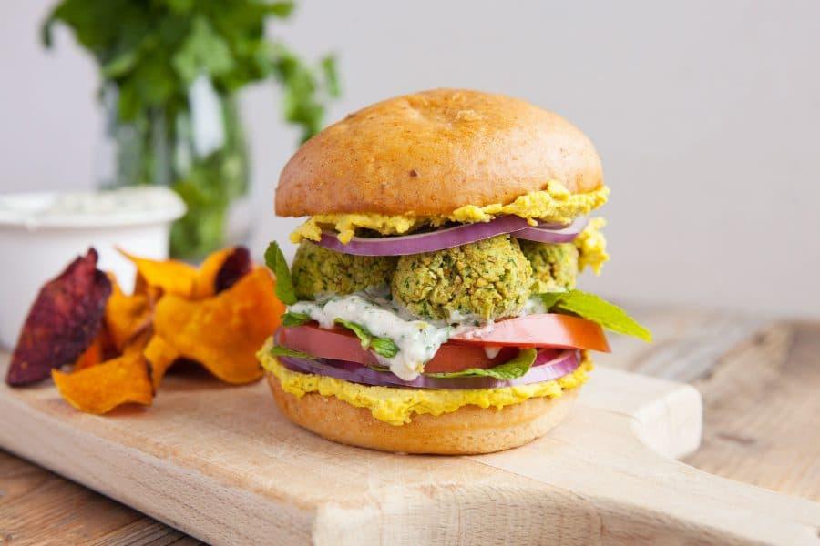 Vegan gluten-free falafel sandwich recipe