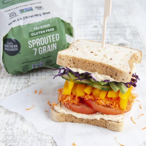 gluten free sandwich with sprouted 7 grain bread